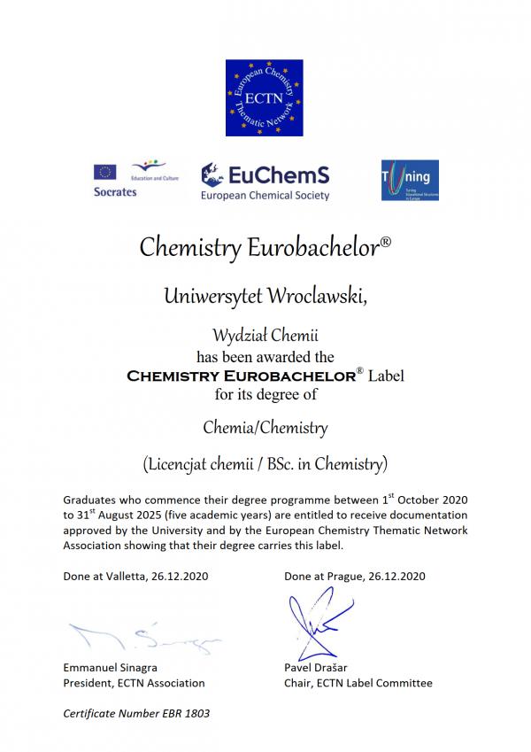Eurolabel Certificate Wroclaw EBR_1
